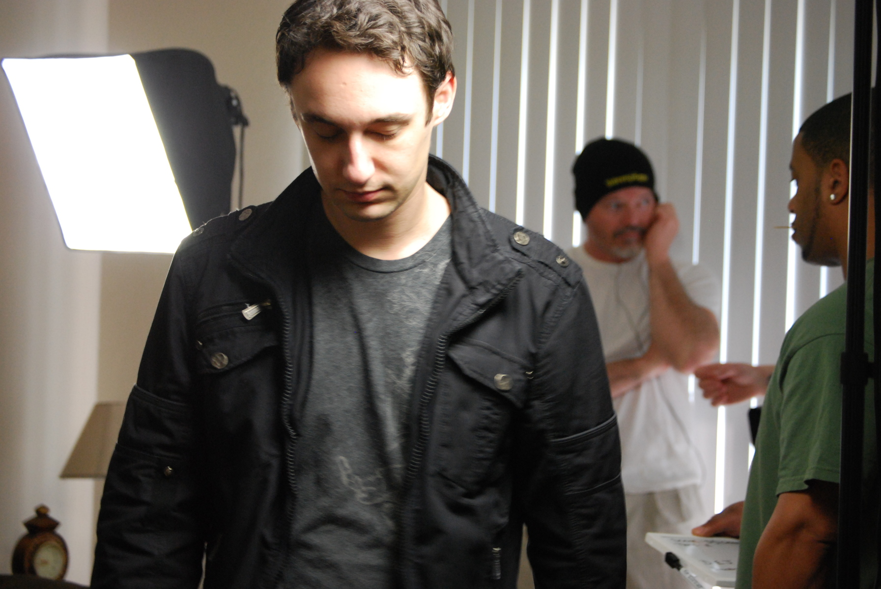 on the set of Dead End Job