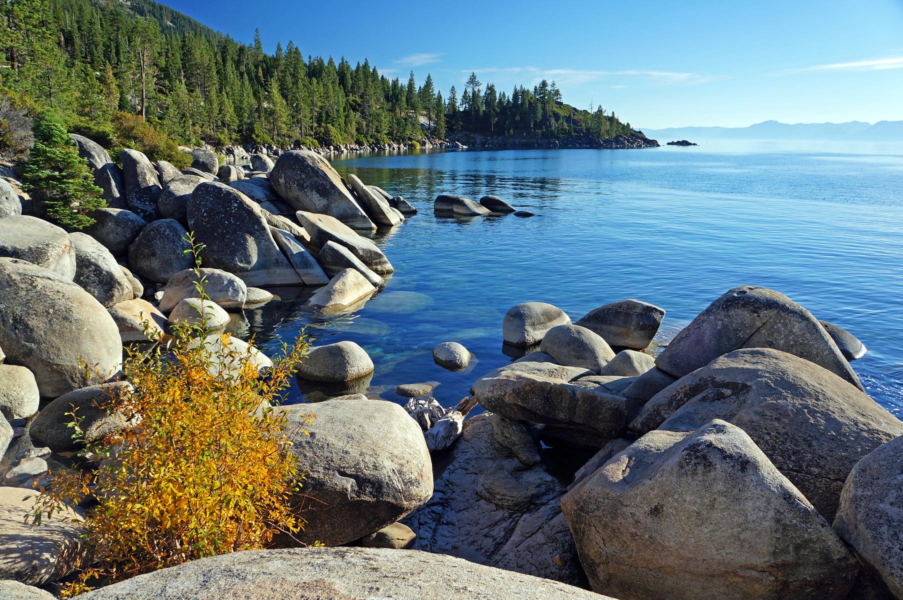 boulders along east shore Lake Tahoe, Nevada
