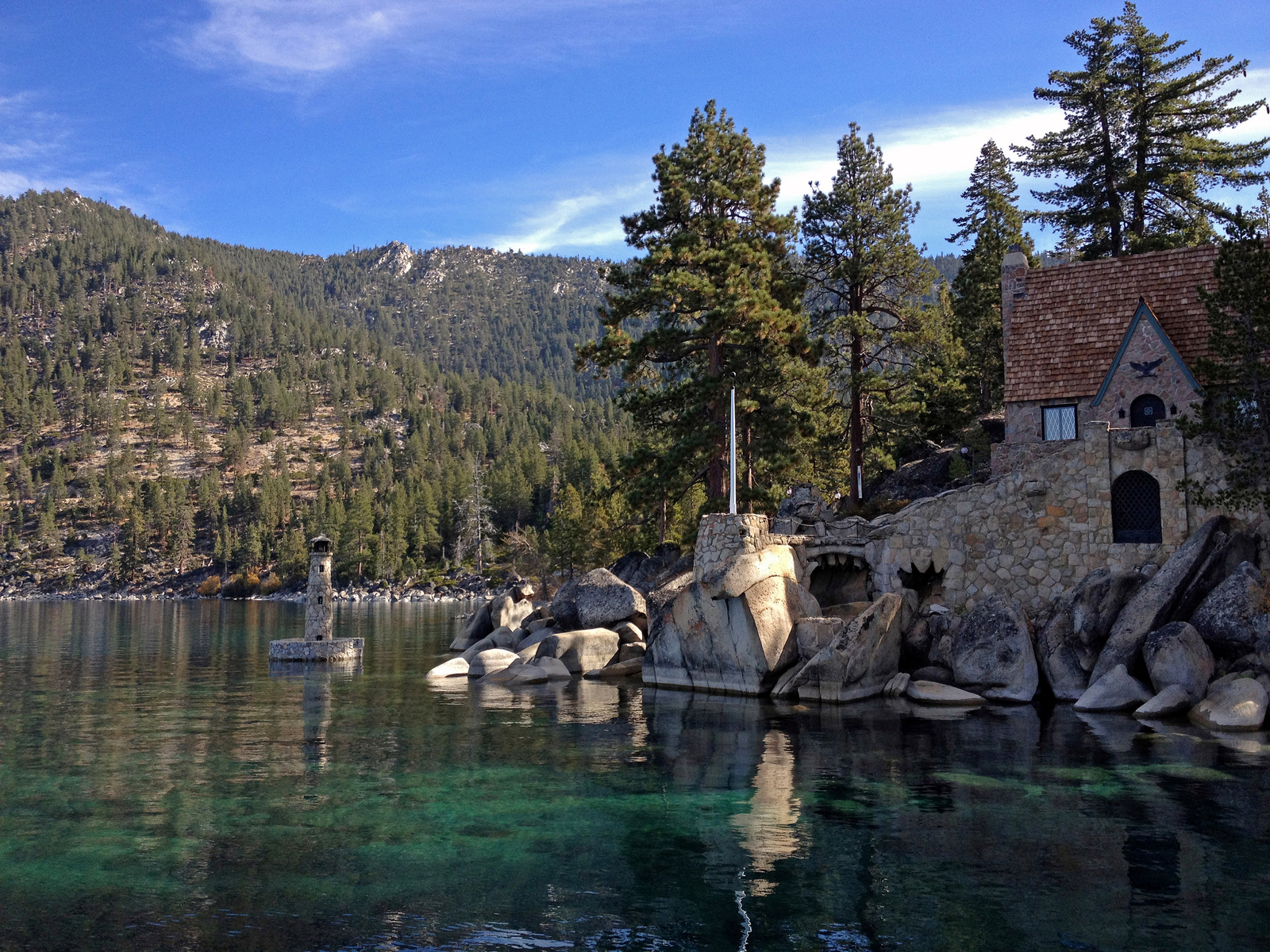 on the east shore of Lake Tahoe, Nevada