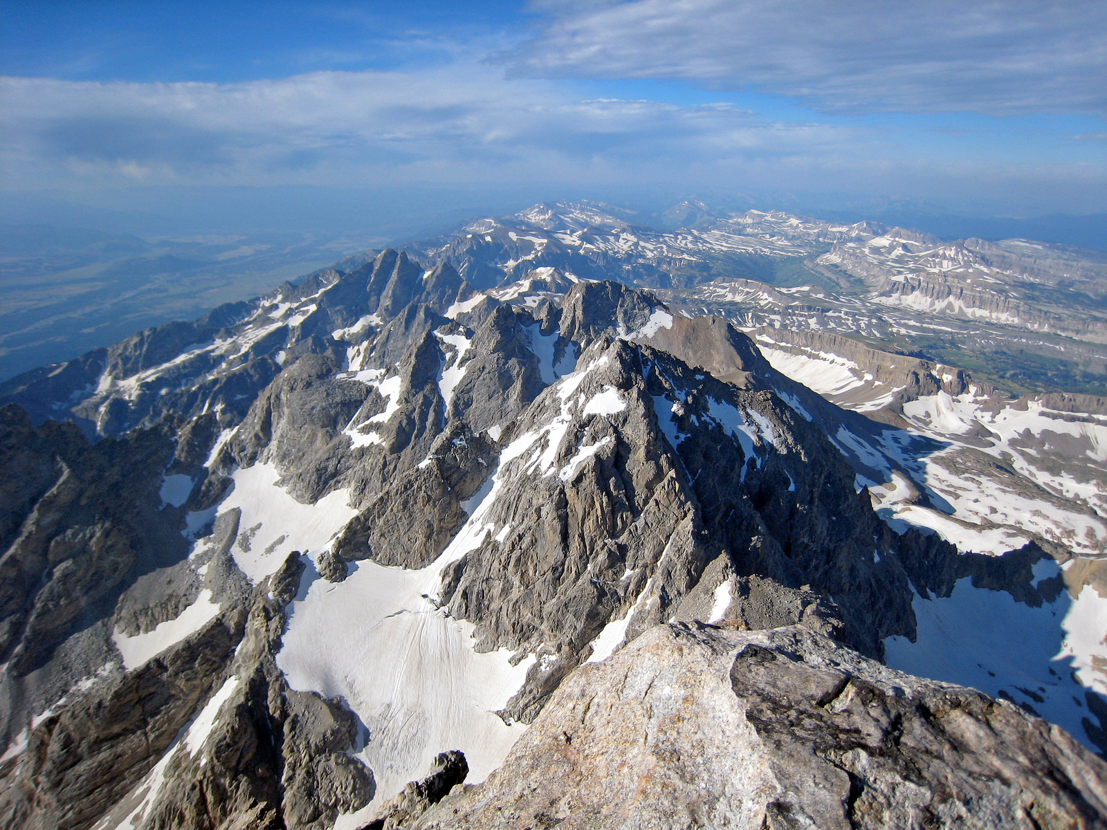 looking south down the Teton crest, Grand Teton National Park, Wyoming
