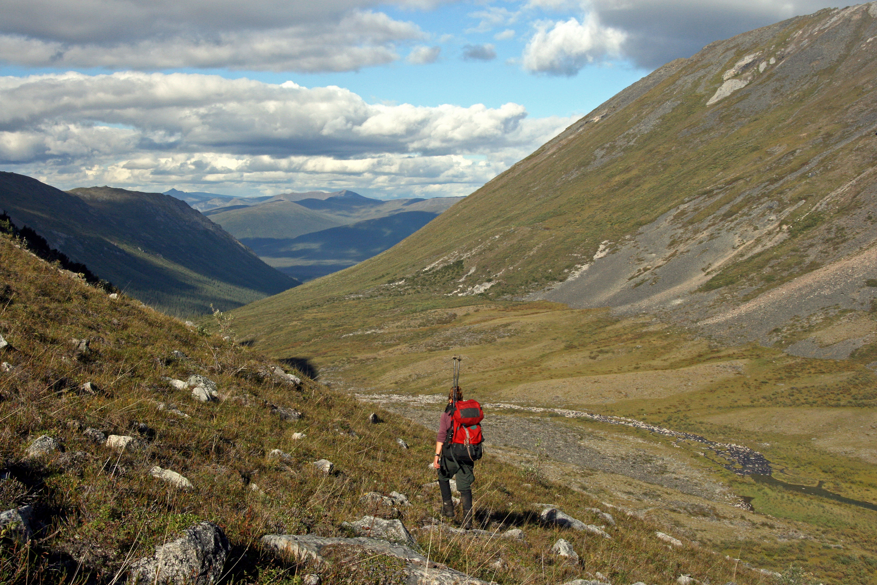 backpacking in the Arrigetch Peaks, Gates of the Arctic National Park, Alaska