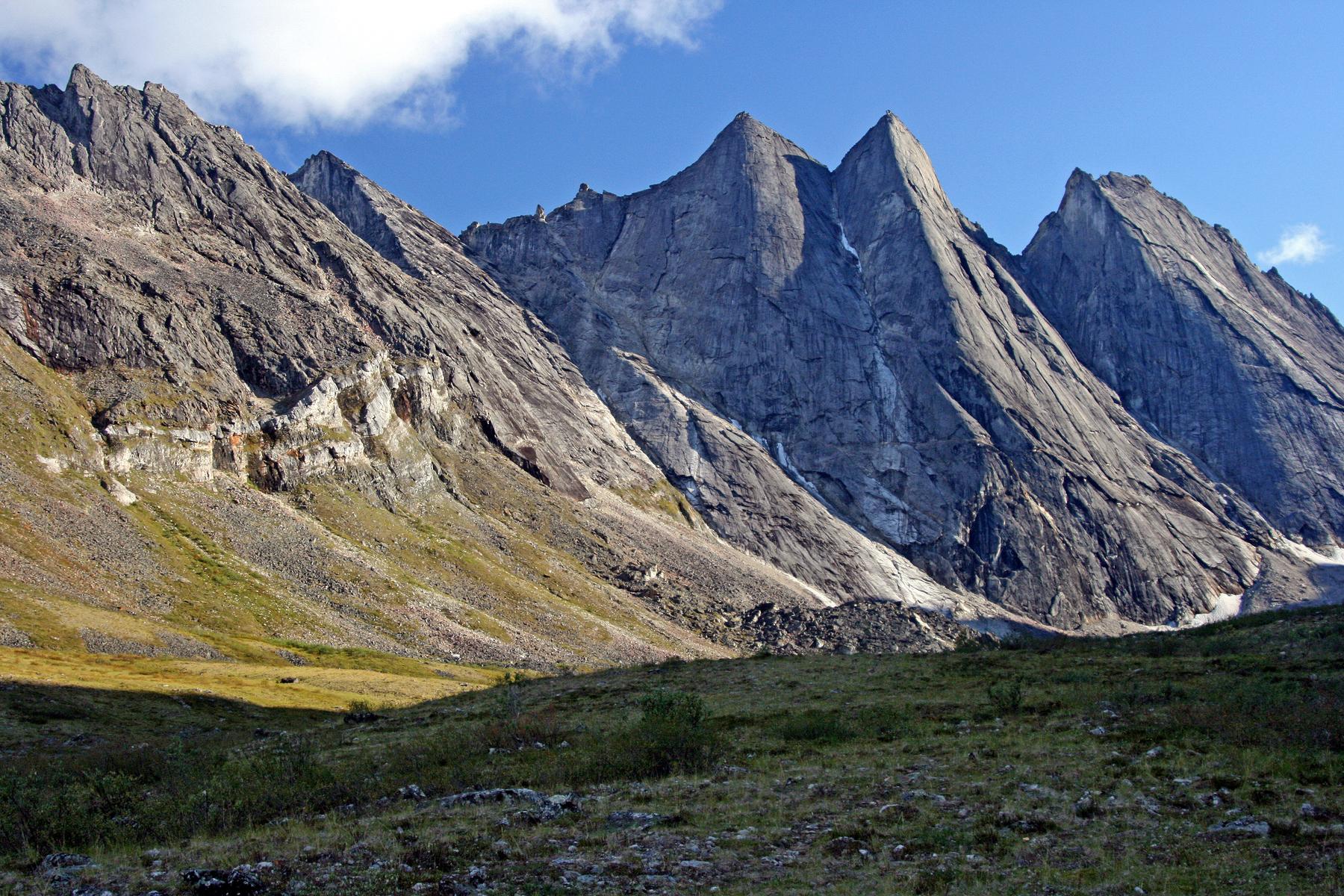granite spires of the Arrigetch Peaks, Gates of the Arctic National Park, Alaska