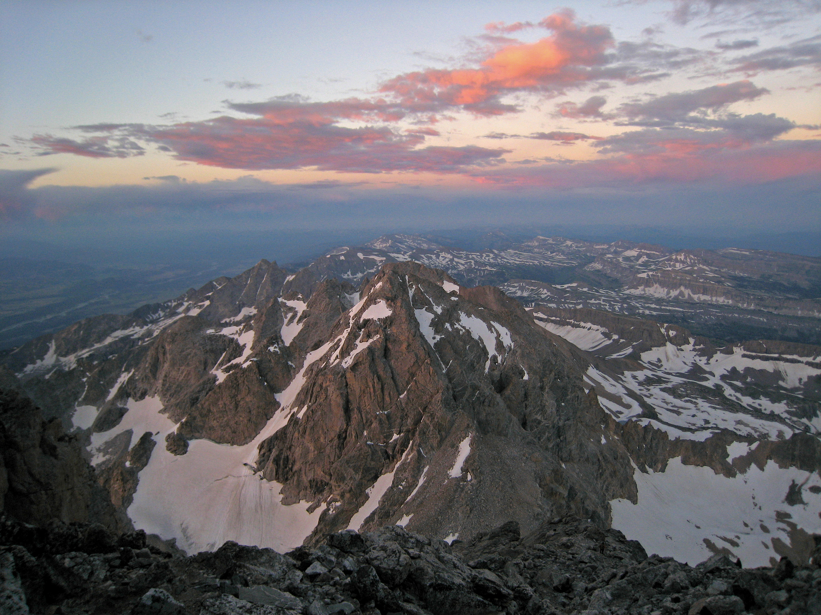 looking south from the Grand Teton, Grand Teton National Park, Wyoming