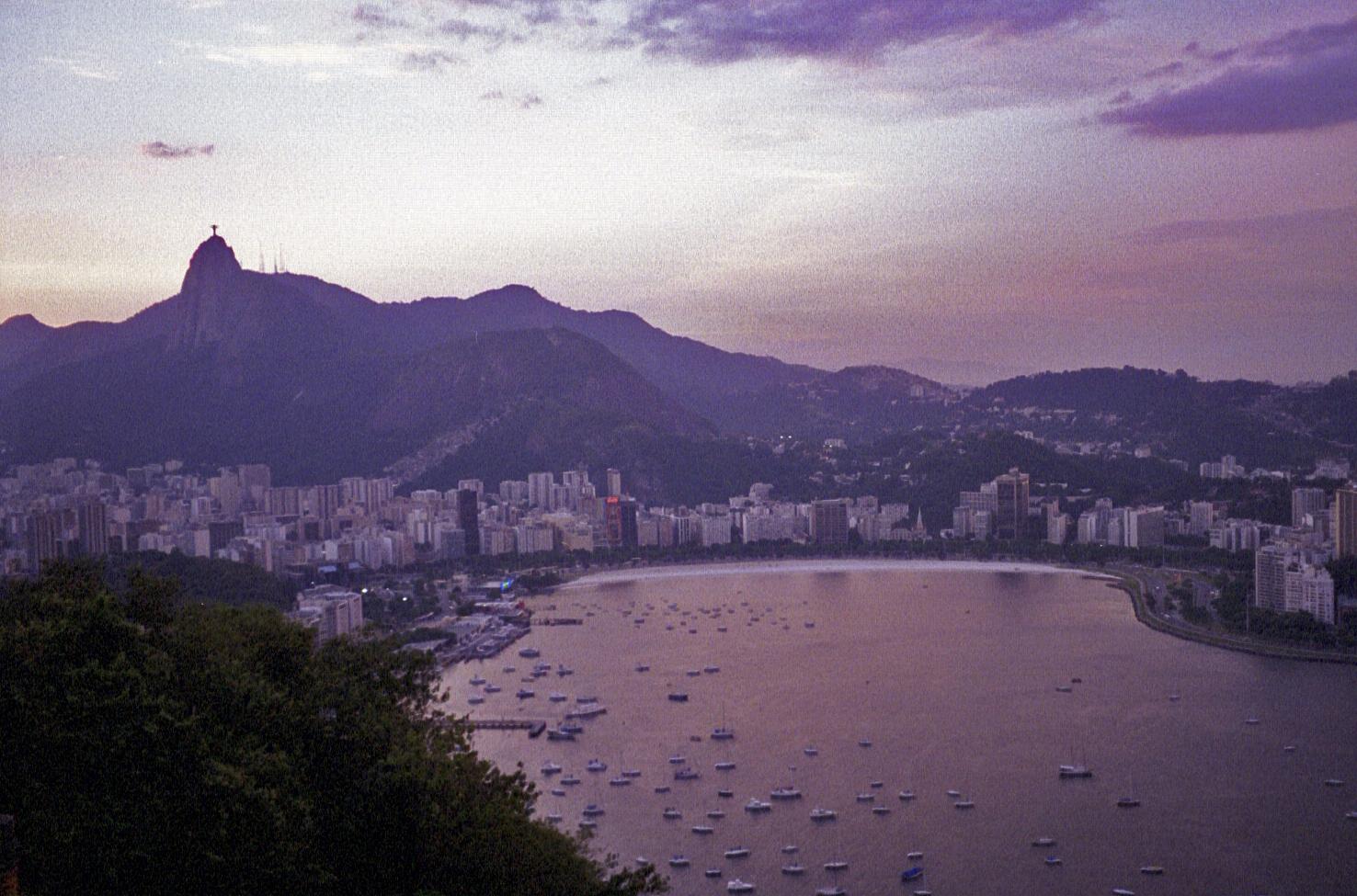 view from Pão de Açúcar, Rio de Janeiro (note: this image is not suitable for large prints)