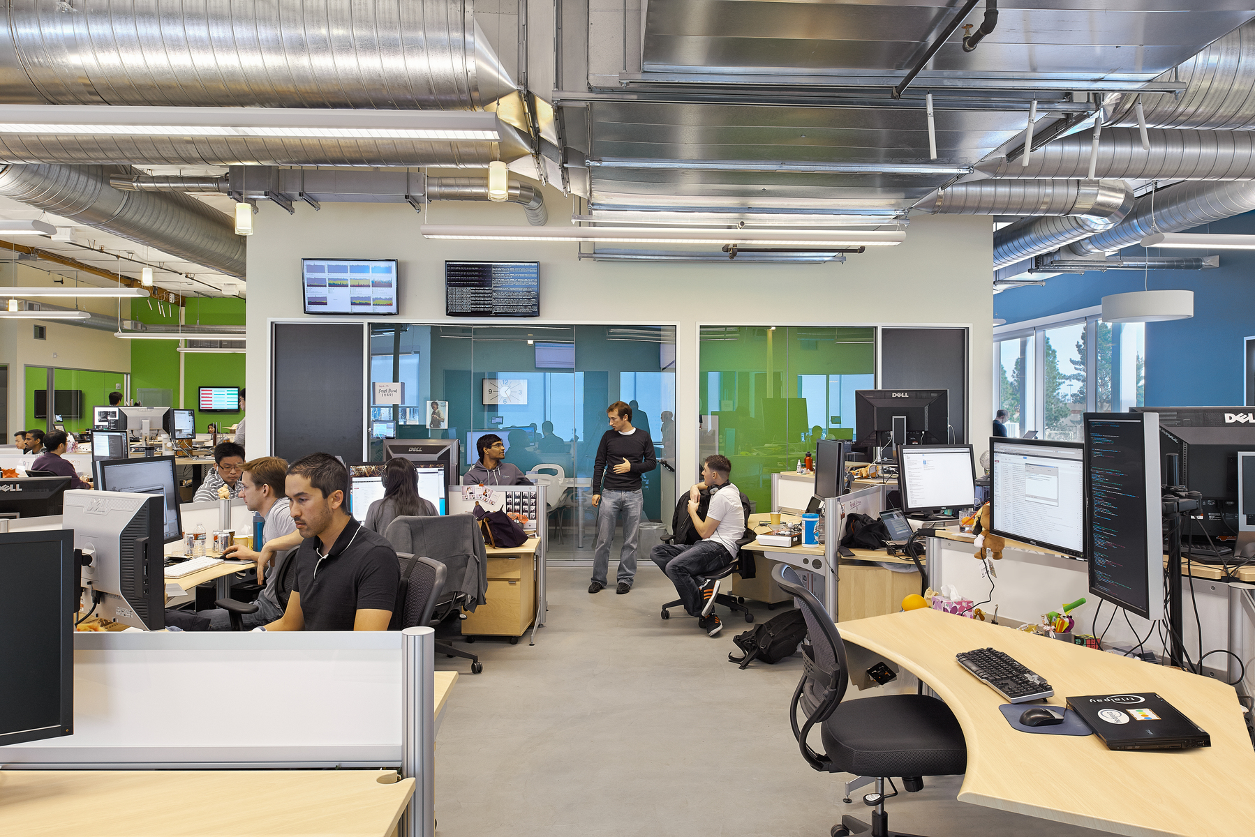 Conference Rooms and Open Office Work Stations