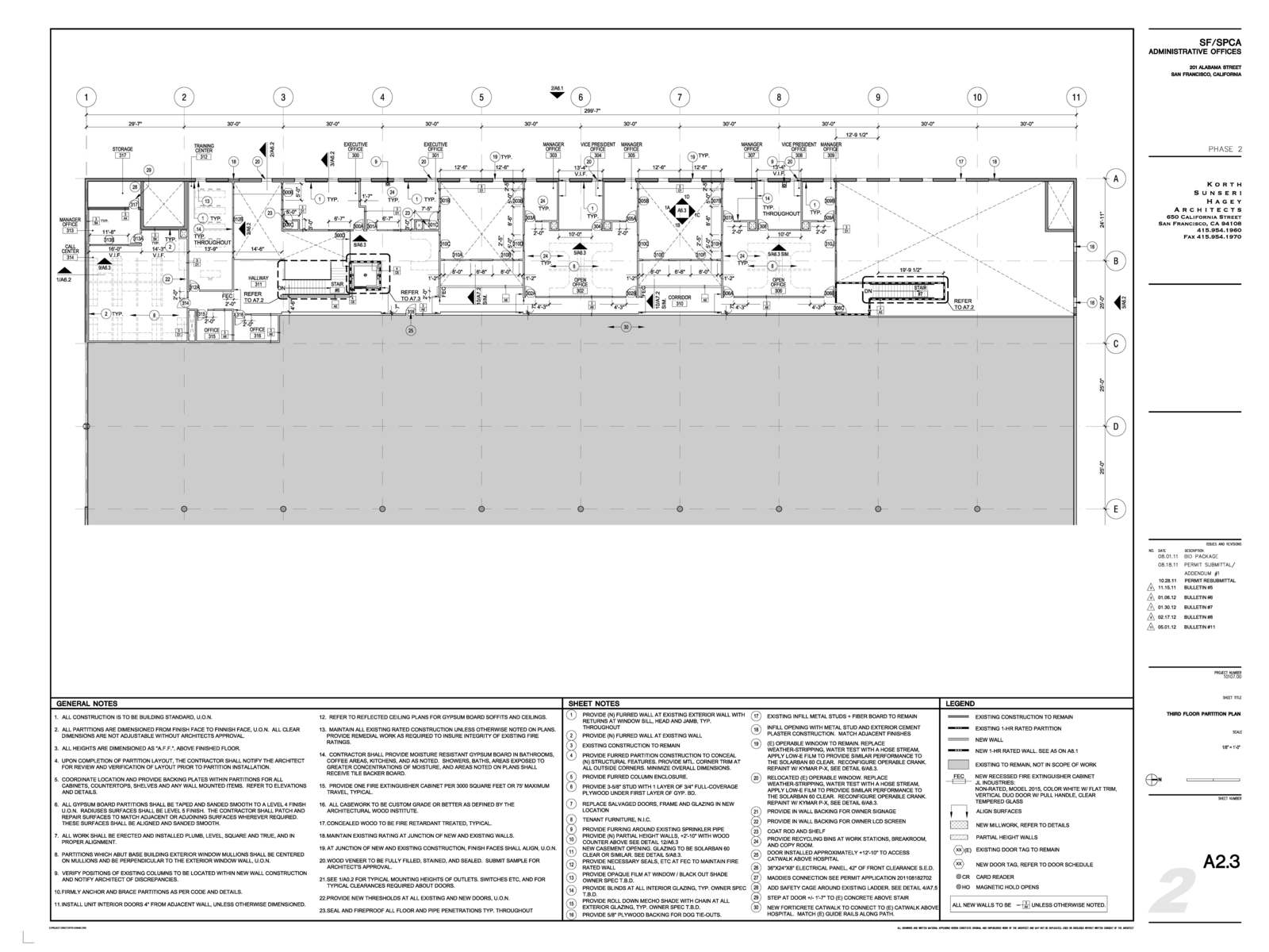 Construction Documents 2nd Floor Plan