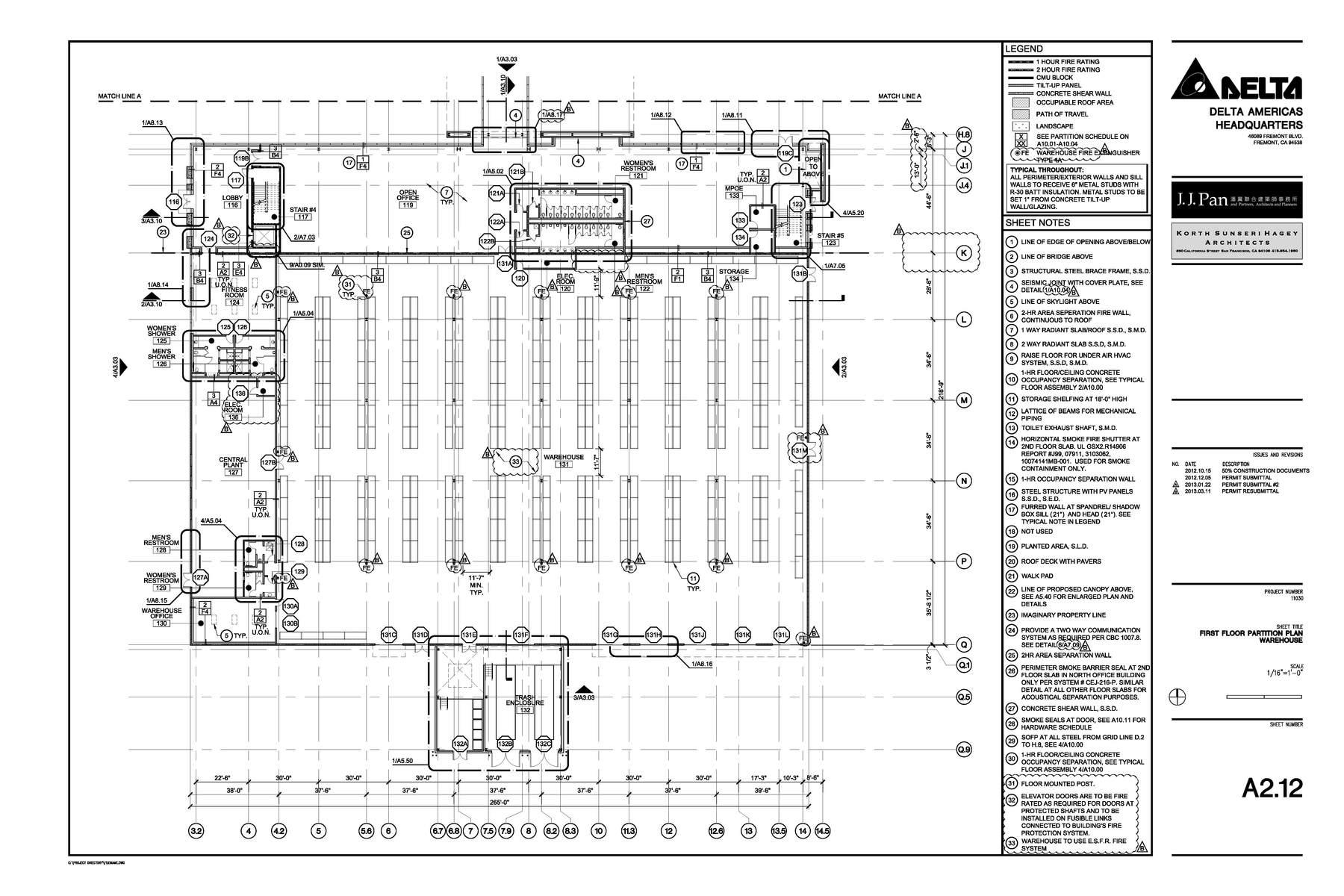 Construction Documents Enlarged Floor Plan Warehouse
