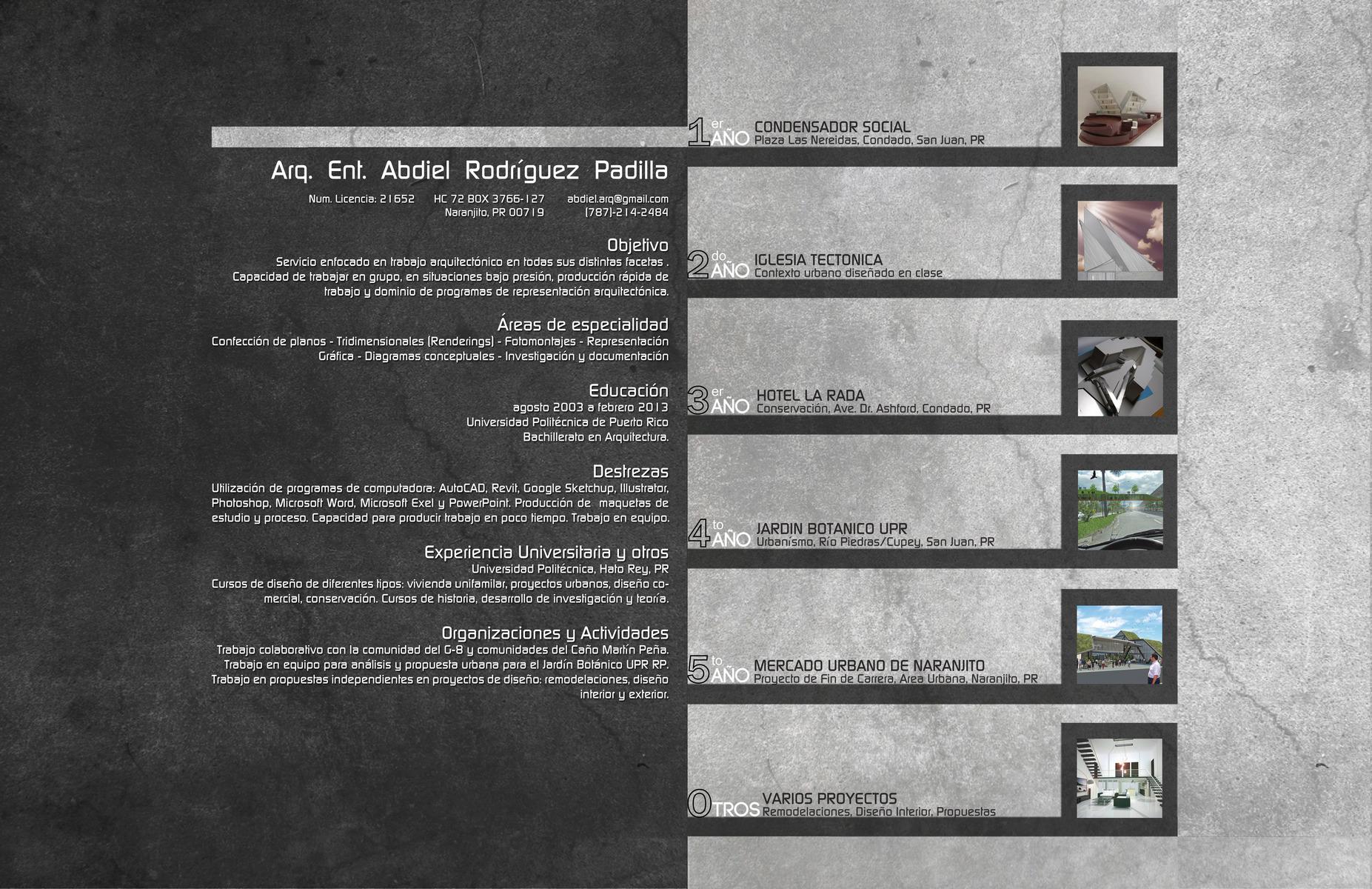 My portfolio abdiel rodriguez portafolio de arquitectura for Libros de planos arquitectonicos